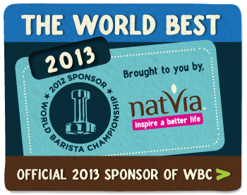 Natvia is the Offical 2013 Sponsor of the World Barista Championship